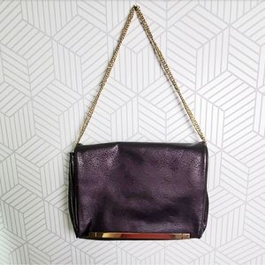 Ivanka Trump Aubergine Envelope Bag